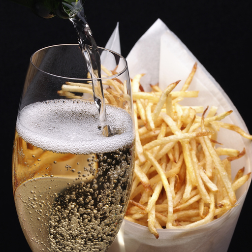 Newsflash: You Should Be Drinking Champagne With Your French Fries