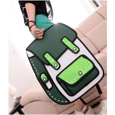 These Cartoon-Style Backpacks Are Like A Comic Strip Come To Life