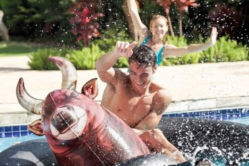 This Giant Inflatable Bull Float Brings The Rodeo To The Pool & It's Amazing