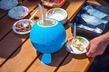 This Ball Makes Ice Cream While You Kick It & Exercise Has Never Been More Fun