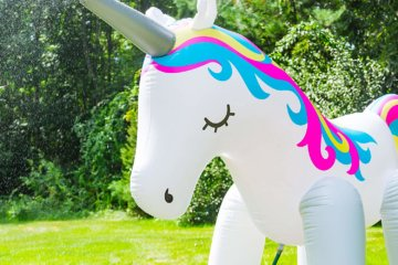 This Giant Inflatable Unicorn Sprinkler Will Take Your Summer BBQs To The Next Level