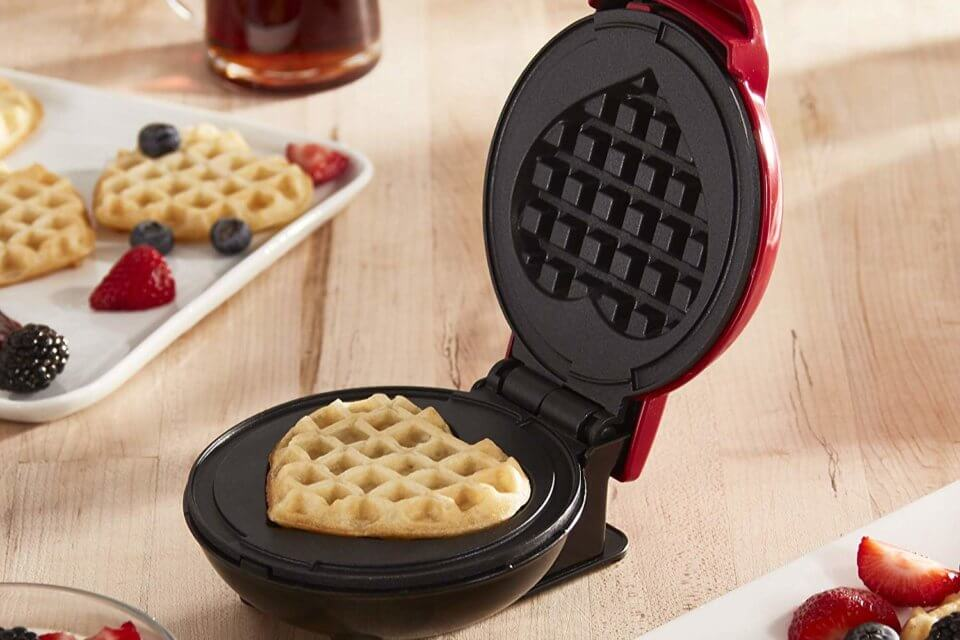 This Heart-Shaped Waffle Maker Is The Ultimate Self-Care Accessory
