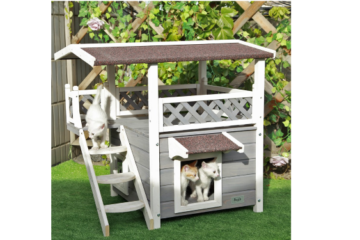 This 2-Story Cat Condo Will Make Your Kitty Feel Like A Millionaire
