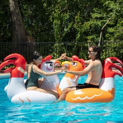 These Inflatable Chicken Pool Floats Make You Fight To The Death… Or Until Someone Falls Off