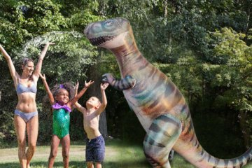 This Giant T-Rex Sprinkler Will Make Your Summer Totally Jurassic—Get It?