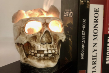 This Skull-Shaped Himalayan Salt Lamp Is The Perfect Creepy Halloween Accessory