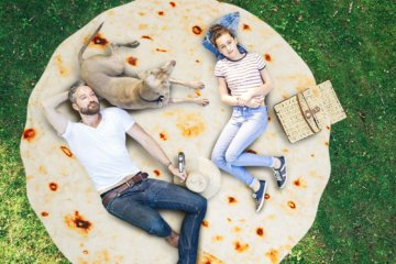 You Can Become A Human Burrito With This Giant Tortilla Blanket