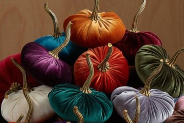 These Velvet Pumpkins Will Take Your Fall Home Decor To A New Level Of Lushness