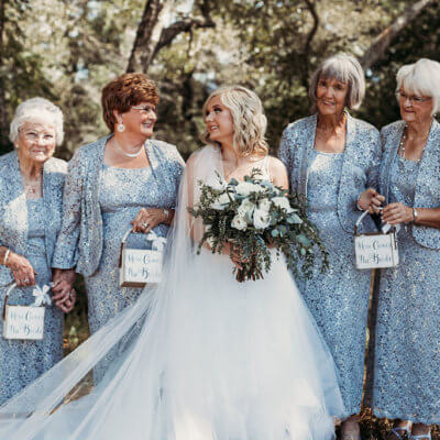 Bride Asks Her 4 Grandmas To Be Her Flower Girls & They're Adorably Sassy