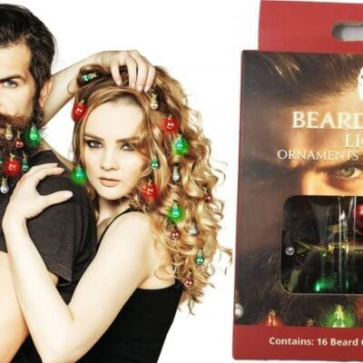 Christmas Lights For Beards Exist For The Rugged Man In Your Life