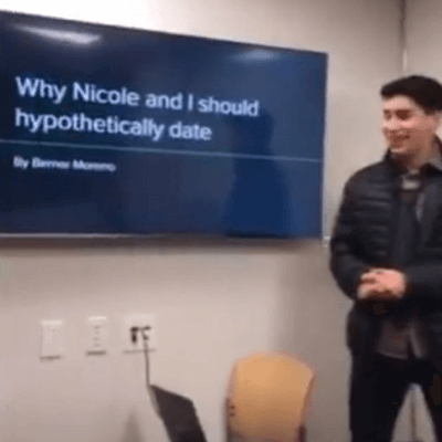 Guy Uses PowerPoint To Convince A Woman To Date Him & It Totally Worked