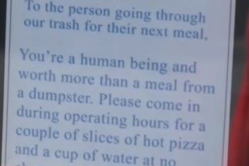 Little Caesars Has The Most Amazing Response To Catching Homeless Man Eating From Trash