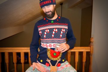 This Sweater Has A Reindeer In A Rather Curious Location…