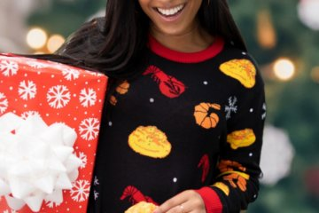 This Red Lobster Sweater Has A Pouch To Store Your Cheddar Bay Biscuits