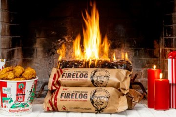 KFC Just Released A Fireplace Log That Smells Exactly Like Fried Chicken