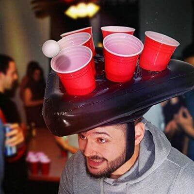 This Inflatable Beer Pong Hat Will Take Your Drinking Games To The Next Level