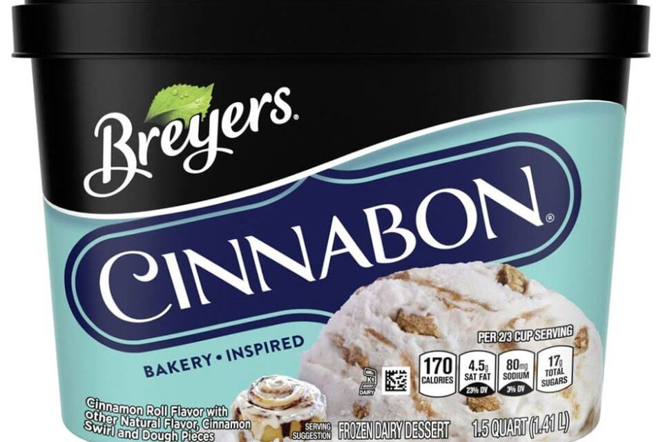 Breyers Releases Cinnabon Ice Cream Just In Time To Tank Your New Year's Resolution To Eat Healthier