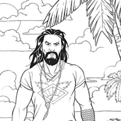 There's A Whole Jason Momoa Coloring Book Out There Just Waiting For You To Fill It In