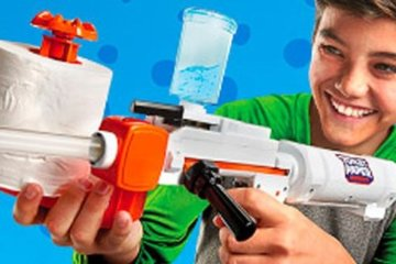 This Toy Gun Can Make 350 Spitballs From A Single Roll Of Toilet Paper