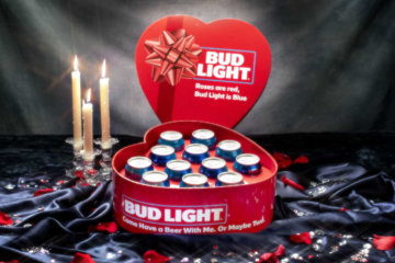 Bud Light Has Released Heart-Shaped Boxes Of Beer For Valentine's Day