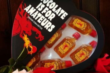 These Heart-Shaped Boxes Full Of Fireball Shooters Will Take Valentine's Day To The Next Level