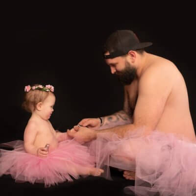 This Dad And Daughter Wore Matching Tutus For An Adorable Photoshoot