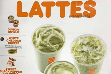 Dunkin' Donuts Is Apparently Selling Matcha Lattes And 'Snacking Bacon' From Next Month