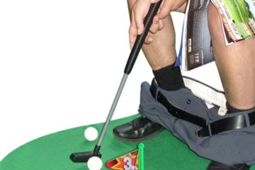 The Potty Putter Lets You Play A Round Of Golf While You're Relieving Yourself