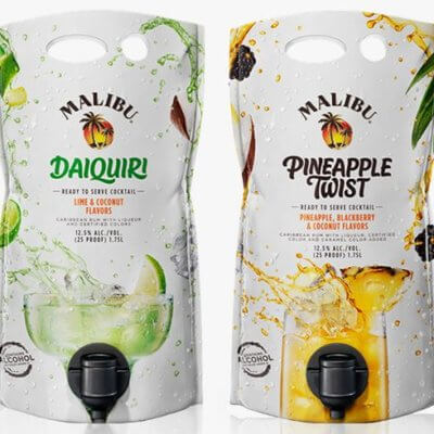 These Malibu Mixed Drink Pouches Will Be The Ultimate Boozy Drink Of Summer