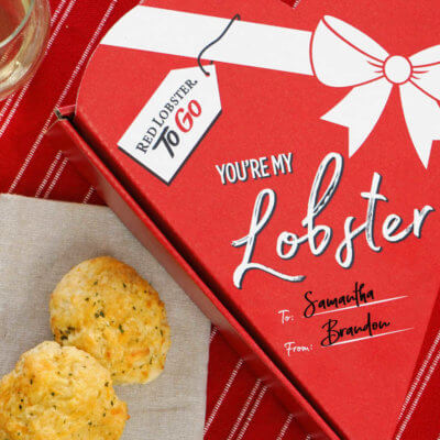 Red Lobster Is Selling Cheddar Bay Biscuits In Heart-Shaped Boxes For Valentine's Day