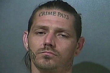 Indiana Man With 'Crime Pays' Tattoo Arrested After Police Chase