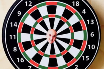 You Can Now Get A Dart Board With Your Mortal Enemy's Face On It