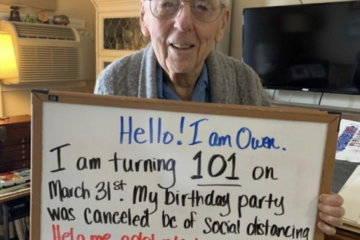 100-Year-Old Man Asks For 101,000 Likes On Twitter After His Birthday Party Was Canceled