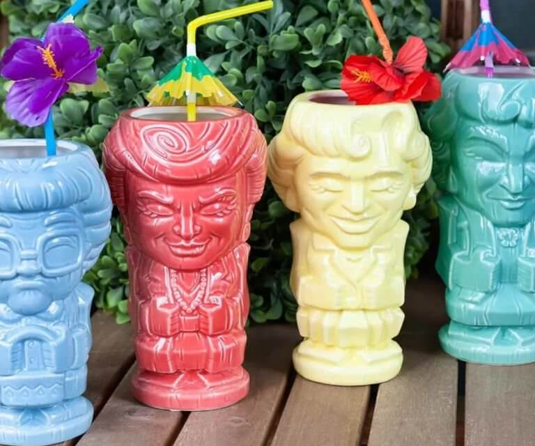 These 'Golden Girls' Tiki Mugs Will Let You Sip Your Quarantinis In Style