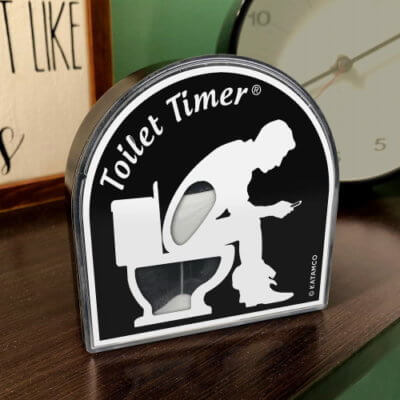 This Toilet Timer Will Let Bathroom Hogs Know When They've Been Too Long