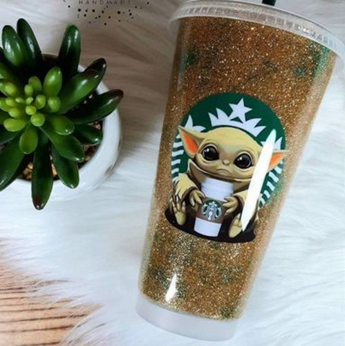This Glittery Baby Yoga Tumbler Is Your Iced Coffee's New Best Friend