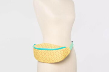 This Pineapple Fanny Pack Is Actually A Cooler That Holds A Whole Bottle Of Wine