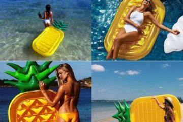 This Pineapple Pool Float Will Make Every Day Feel Like A Tropical Vacation