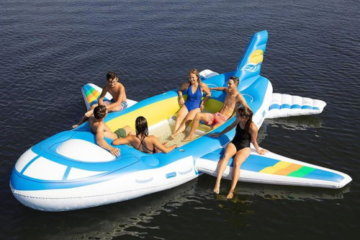 This 18-Foot Inflatable Airplane Float Will Let You Traverse The Water In Style