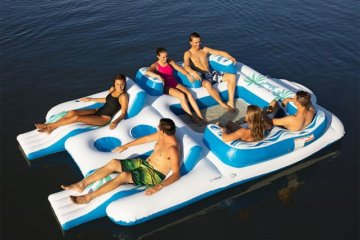 This Inflatable Floating Island Is Big Enough For You And All Your Friends To Party On