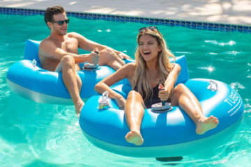 The TubeRunner Pool Float Has An Internal Motor So You Can Zoom Through The Water In Style