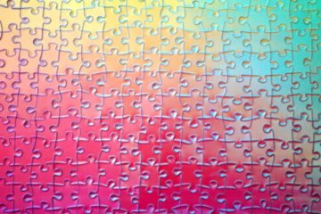 This 1,000-Piece Puzzle Changes Colors As You Put It Together For An Extra Challenge