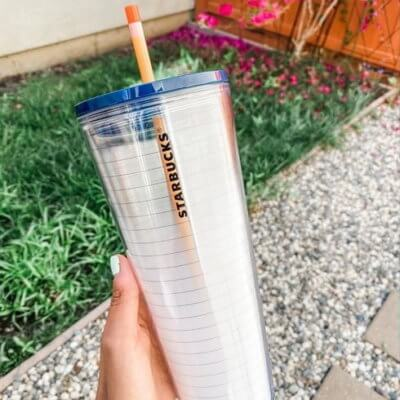 Starbucks Is Selling A Reusable Cold Cup With A Notebook Design And Pencil Straw