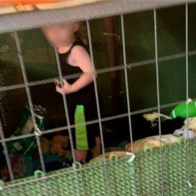 Cops Investigating Animal Cruelty Find 18-Month-Old Living In Filthy Dog Cage