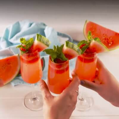 Watermelon Mimosas Are The Classy, Summery Addition Your Brunch Needs