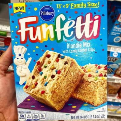 Pillsbury Released A Funfetti Blondie Mix That's Even Better Than Brownies