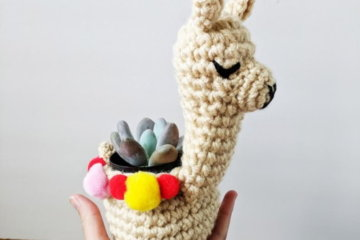 This Crocheted Llama Succulent Planter Will Be An Adorable Addition To Your Desk