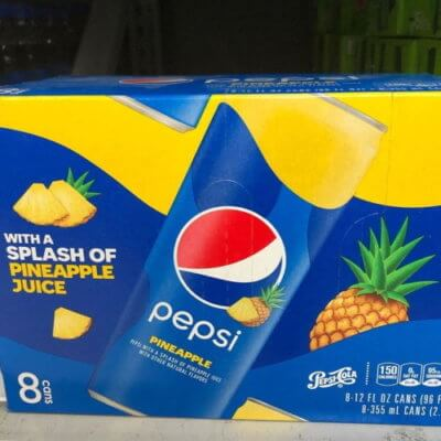 Pepsi's New Pineapple Flavor Brings The Tropics To Your Usual Cola