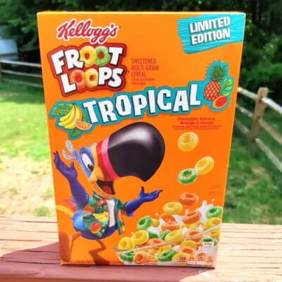 New Tropical Froot Loops Include Banana, Pineapple, Mango, And Orange Flavors