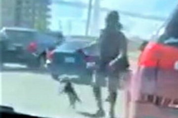 Woman With Road Rage Uses Dog On Leash As Weapon In Shocking Altercation